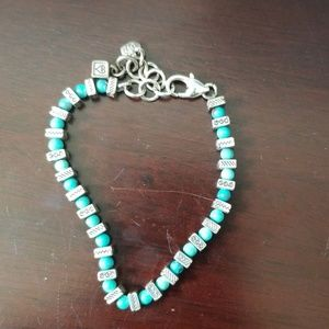 Brighton Turquoise bead and silver bracelet